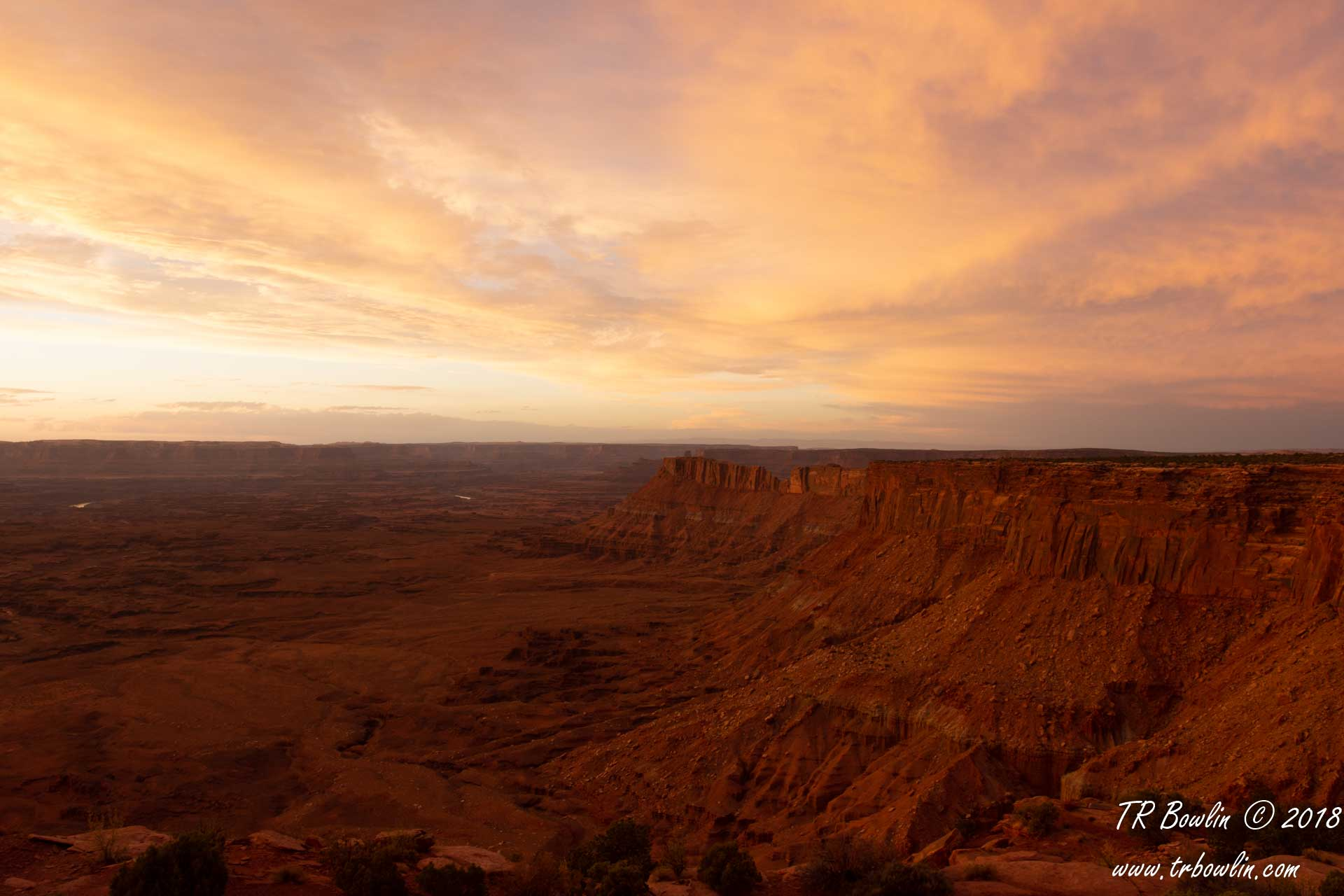 Canyonlands National Park, Needles Overlook, Sunset